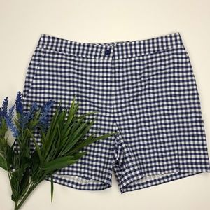 J. McLaughlin Short Size 8 Gingham Checkered Flat